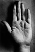 Photographs:20th Century, BERENICE ABBOTT (American, 1898-1991). Hand, circa 1940.Gelatin silver, printed later. 18-3/4 x 13 inches (47.6 x 33.0 ...