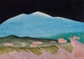 Texas:Early Texas Art - Regionalists, BILL BOMAR (American, 1919-1991). Snow Mountain. Watercoloron paper. 8 x 10-1/2 inches (20.3 x 26.7 cm). Initialed lowe...