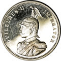 German East Africa: , German East Africa: Colonial Rupee 1904-A, KM10, choice Proof witha nice cameo bust, very slight hairlines as usual and a smallnatural edge fl...