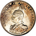 German East Africa: , German East Africa: Colonial 2 Rupien 1893, KM5, MS62 NGC, a choicetoned example with extremely sharp details and full mint lusterbelow gray a...