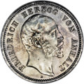 German States:Anhalt-Dessau, German States: Anhalt-Dessau. Friedrich 2 Mark 1896-A, KM23, AU, cleaned long ago and now attractively toned, some hairlines are still evid...