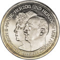 German States:Anhalt-Dessau, German States: Anhalt-Dessau. Friedrich II 5 Mark 1914-A, KM31, choice brilliant Proof, few tiny contact marks on the busts, rare quality....