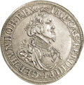 German States:Augsburg, German States: Augsburg. Ferd. III Taler 1641, Bust right/City view, KM77, Dav-5039, lightly cleaned XF....