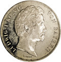 German States:Bavaria, German States: Bavaria. Ludwig I 2 Taler 1837, KM416, MS62 ANACS,an attractive coin with somewhat prooflike surfaces and definiteeye appe...
