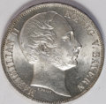 German States:Bavaria, German States: Bavaria. Maximilian II Vereinstaler 1864, KM468,lovely brilliant UNC with frosted details on the bust....