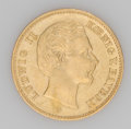 German States:Bavaria, German States: Bavaria. Ludwig II gold 5 Mark 1877-D, KM506, niceXF, faint obverse hairlines....