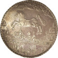 """German States:Brunswick-Luneburg, German States: Brunswick-Luneburg-Celle. Christian Ludwig Broad 4Taler 1664, Davenport LS187, with """"4"""" punched in, KM223.5, choicetoned X..."""