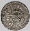 German States:Hildesheim, German States: Hildesheim. Two Early Silver Types, KM236 12 Mariengroschen 1676, lovely toned XF-AU, very bold details, and KM111 1/6 Taler... (Total: 2 coins Item)
