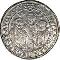 """German States:Saxony, German States: Saxony. Christian II et al Taler 1595, Davenport 9820, choice lustrous XF-AU, elusive quality for the """"three brothers"""" type...."""