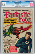 Silver Age (1956-1969):Superhero, Fantastic Four #10 (Marvel, 1963) CGC NM/MT 9.8 White pages....