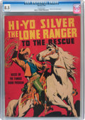 Golden Age (1938-1955):Western, Large Feature Comic (Series I) #7 Hi-Yo Silver the Lone Ranger Tothe Rescue - Whitman #715 (Whitman, 1939) CGC VF+ 8.5 Off-wh...
