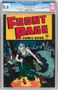 Golden Age (1938-1955):Horror, Front Page Comic Book #1 Mile High pedigree (Harvey, 1945) CGC NM9.4 Off-white to white pages....