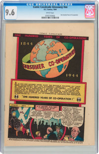 Comic Cavalcade Giveaway #nn One Hundred Years of Co-Operation (DC, 1944) CGC NM+ 9.6 White pages