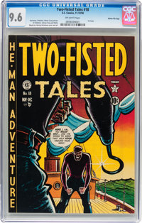 Two-Fisted Tales #18 Gaines File pedigree 2/7 Plus Bonus EC Slipcases (EC, 1950) CGC NM+ 9.6 Off-white pages.... (Total:...