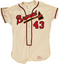 Baseball Collectibles:Uniforms, 1958 Wes Covington Game Worn Milwaukee Braves Jersey....