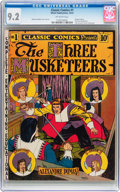 Golden Age (1938-1955):Classics Illustrated, Classic Comics #1 The Three Musketeers - First Edition (Gilberton,1941) CGC NM- 9.2 Off-white pages....