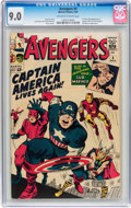 Silver Age (1956-1969):Superhero, The Avengers #4 (Marvel, 1964) CGC VF/NM 9.0 Off-white to whitepages....