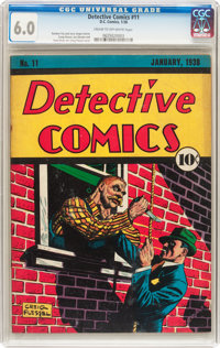 Detective Comics #11 (DC, 1938) CGC FN 6.0 Cream to off-white pages