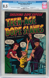 Harvey Comics Library #1 Teen-Age Dope Slaves (Harvey, 1952) CGC VF+ 8.5 Cream to off-white pages