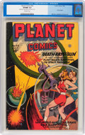 Golden Age (1938-1955):Science Fiction, Planet Comics #43 (Fiction House, 1946) CGC VF/NM 9.0 Off-white pages....