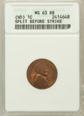 Errors, LINCOLN 1C No Dated -- Slip before Strike MS63 Red and Brown ANACS. PCGS Population (7869/26686). (#24...