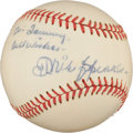 Autographs:Baseballs, Circa 1950 Tris Speaker Single Signed Baseball, PSA/DNA NM-MT+ 8.5....