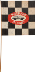 Miscellaneous Collectibles:General, 1956-58 Indy 500 Race Flag and Other Race Related Memorabilia....