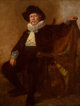 EASTMAN JOHNSON (American, 1824-1906) Self-Portrait in the Costume Worn by Him at the Twelfth Night Celebration at the C...