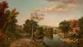 Fine Art - Painting, American:Antique  (Pre 1900), LEVI WELLS PRENTICE (American, 1851-1935). Canandaigua, NewYork, 1872. Oil on canvas. 30 x 52 x 4-1/2 inches (76.2 x 13...