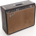 Musical Instruments:Amplifiers, PA, & Effects, 1965 Fender Twin Reverb Black Guitar Amplifier, Serial # A02119....