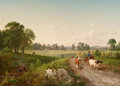 Fine Art - Painting, American:Antique  (Pre 1900), DEWITT CLINTON BOUTELLE (American, 1817-1884). Summer in theCountry, 1857. Oil on canvas laid on masonite. 36 x 50 inch...