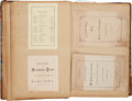 Miscellaneous Collectibles:General, 1872-76 Yale University Student's Scrapbook....