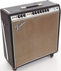 Musical Instruments:Electric Guitars, Late 1960s Fender Super Reverb Black Guitar Amplifier, Serial # A42340....
