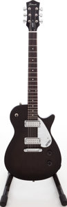 Musical Instruments:Electric Guitars, 2000s Gretsch Electromatic Jet Club II Trans Black Solid BodyElectric Guitar. ...