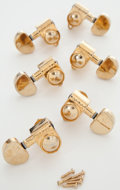 Musical Instruments:Miscellaneous, Set of 6 Gold Grover Tuners.. ...