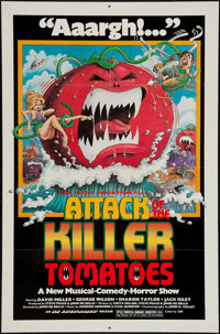 """Attack of the Killer Tomatoes (Northern Arts Entertainment, 1978). One Sheet (27"""" X 41""""). Comedy"""