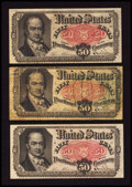 Fractional Currency:Fifth Issue, A Trio of Fr. 1380 50¢ Fifth Issue Very Good to About New.. ...(Total: 3 notes)