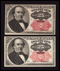Fractional Currency:Fifth Issue, Fr. 1308 25¢ Fifth Issue Extremely Fine. Fr. 1309 25¢ Fifth IssueExtremely Fine-About New.. ... (Total: 2 notes)