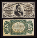 Fractional Currency:Third Issue, Fr. 1291SP 25¢ Third Issue Narrow Margin Face Very Fine. Fr. 1291SP 25¢ Third Issue Narrow Margin Green Back Very Fine.... (Total: 2 notes)