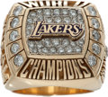 Basketball Collectibles:Others, 2000 Shaquille O'Neal Los Angeles Lakers Championship Style RingGiven to Publicist With Presentation Box. ...