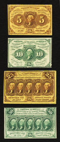 Fractional Currency:First Issue, Fr. 1228 5¢ First Issue About New;. Fr. 1240 10¢ First Issue About New;. Fr. 1279 25¢ First Issue About New;. Fr. 1310 50¢ Fir... (Total: 4 notes)