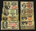 Fractional Currency:Group Lots, An Assortment of Fractional Notes. Very Good-Very Fine.. ... (Total: 9 notes)