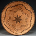 American Indian Art:Baskets, AN APACHE COILED BOWL. c. 1900...