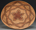 American Indian Art:Baskets, A YOKUTS POLYCHROME COILED TRAY. c.1920...