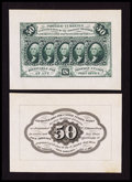 Fractional Currency:First Issue, Fr. 1313SP 50¢ First Issue Wide Margin Pair Extremely Fine.. ... (Total: 2 notes)