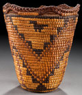 American Indian Art:Baskets, A NORTHWEST COAST IMBRICATED BASKET...