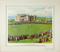 Golf Collectibles:Autographs, 1968 Bobby Jones Signed Print of 1930 Victory at St. Andrews....