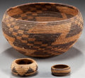 American Indian Art:Baskets, A POMO COILED BOWL. c. 1890... (Total: 3 Items)