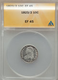 Bust Dimes: , 1823/2 10C Small Es XF45 ANACS. NGC Census: (2/71). PCGS Population(3/53). Mintage: 440,000. Numismedia Wsl. Price for pro...