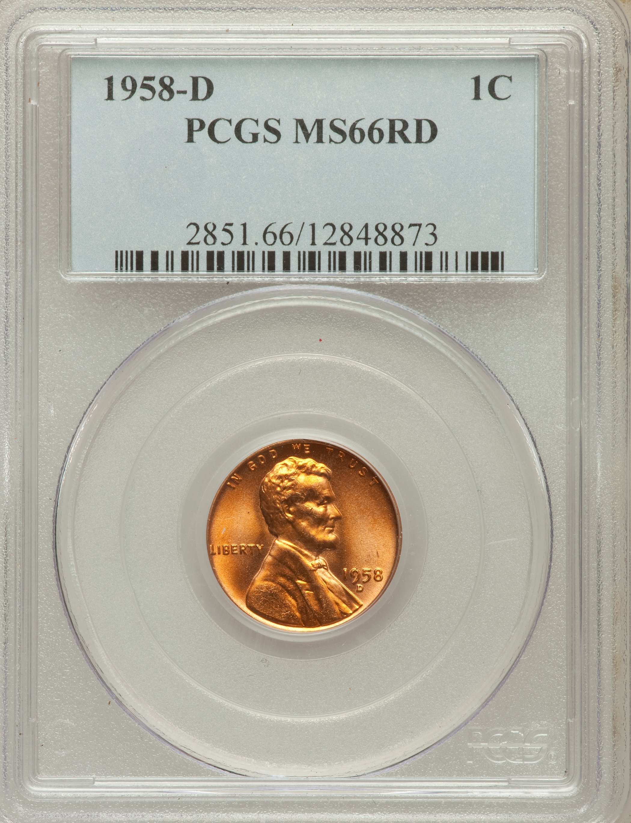 1958-D      NGC    MS66 RED       LINCOLN  1c